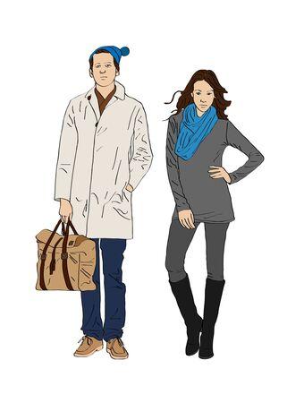 modish: Stylish boy and girl