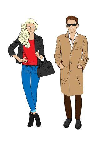 modish: Stylish girl and boy