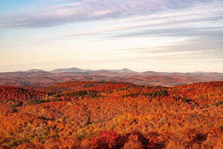 View From Gile Mountain Fire Tower During Autumn