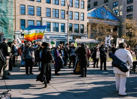Extinction Rebellion Protest on the Streets of Boston Fall 2019