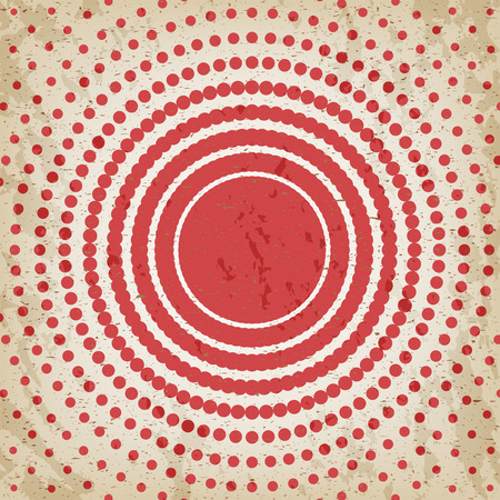 decrease: Abstract background of red dots. Evenly decrease size of circles. Comics style. Vector illustration. Illustration