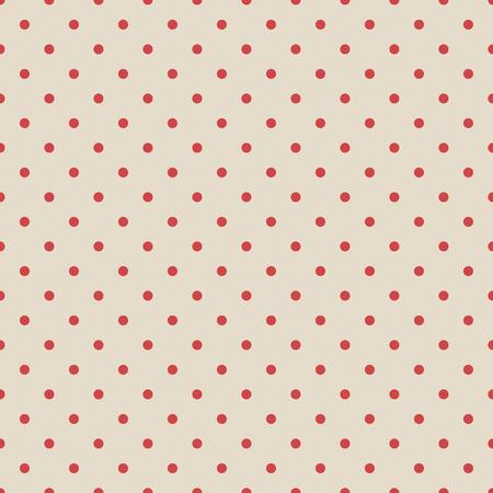 polka dot fabric: Red vintage polka dot seamless pattern on fabric grunge texture.