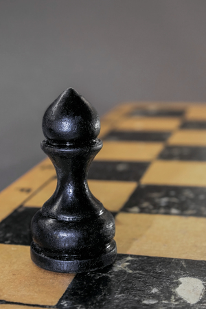 battle plan: The black pawn on the chessboard