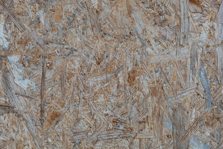 Weathered particle flakeboard with OSB texture Stock Photo