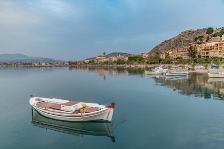 nafplio: Boat at Nafplio port