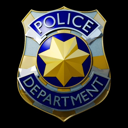 shiny golden and silver police badge 3d Stock Photo - 16802467