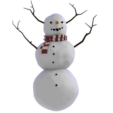 Simple illustration of a smiling snowman illustration