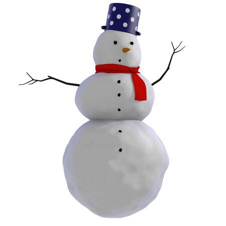 bonhomme de neige: Simple illustration d'un bonhomme de neige