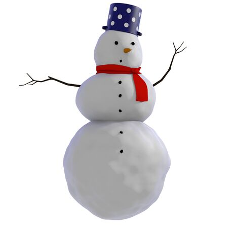 the snowman: Simple illustration of a snowman