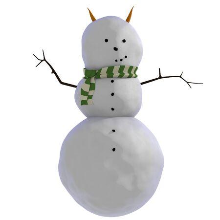 wierd: A wierd looking snowman