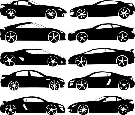 car wheel: deportivos colecci�n de vectores