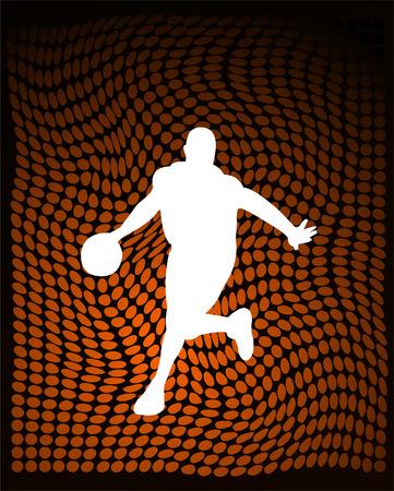 world player: jugador de baloncesto de color naranja en el resumen de antecedentes de vectores Vectores