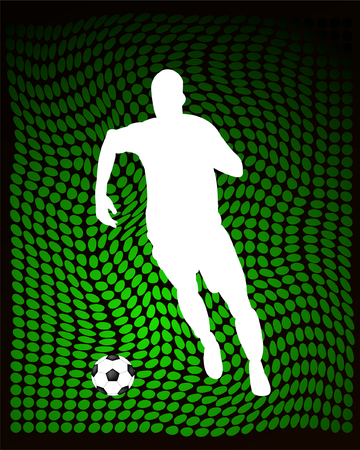 soccer player on abstract background - vector Vector