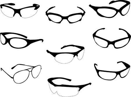 sunglasses collection vector Vector