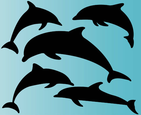 dolphins collection vector Stock Vector - 5409613