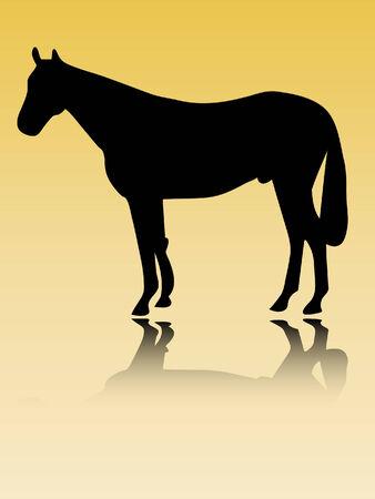 horse silhouette vector Stock Vector - 5409615