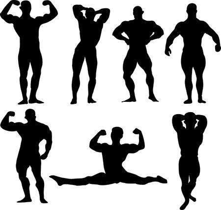 bodybuilders insieme vettoriale