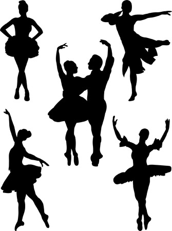 ballet hombres: colecci�n de ballet 2 Vectores