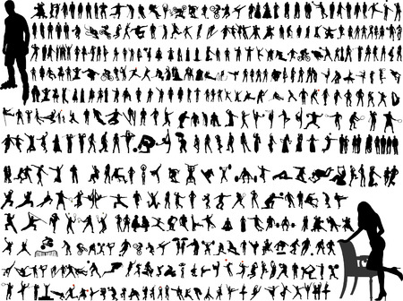 big collection of people 5 Vector
