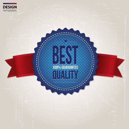 top rated: Best Quality stamp, sticker, tag, label, badge. Illustration