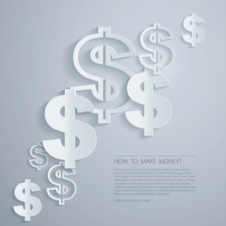Dollar Signs background Illustration