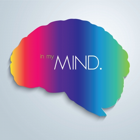 mind: In my mind. Vector illustration.