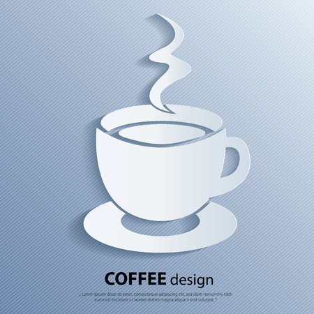 hot cup: Cup of hot drink. Coffee icon. Vector illustration.