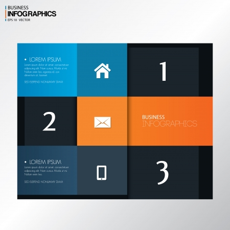 website layout: Modern design template in bright colors  - can be used for infographics