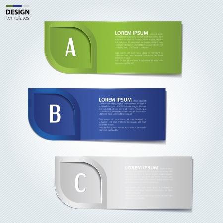 Set of paper banners, bookmarks. Modern design template. Illustration