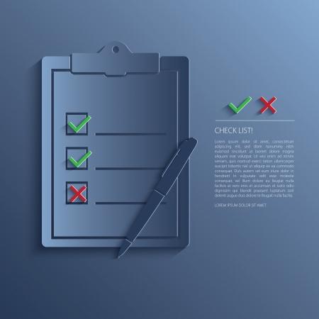 Vector illustration of check list. Vector