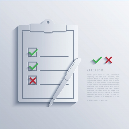 the concept is correct: Vector illustration of check list.