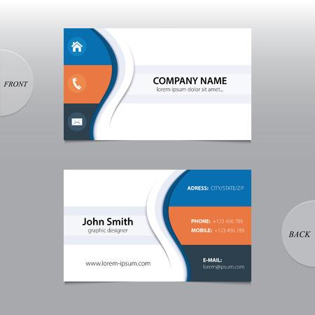 comercios: Resumen de vectores de tarjetas de visita Vectores