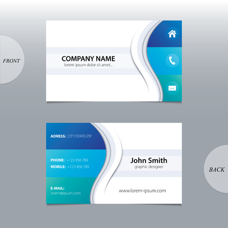 name calling: Vector abstract business cards