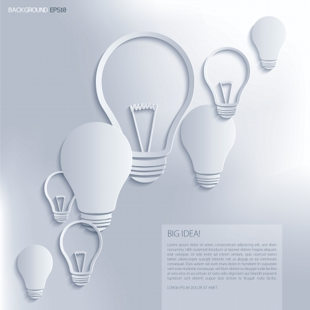 Light bulb Idea  Vector background
