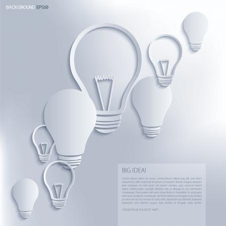 Light bulb Idea  Vector background