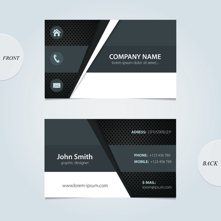 business card template:  abstract business cards   Illustration