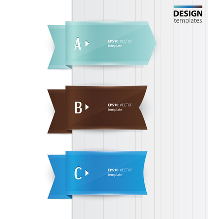 Set of colorful banners, bookmarks, labels. Modern design template. Illustration