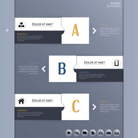 Vector template for business concepts with icons  can use for info graphic Illustration