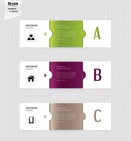 Set of colorful banners, bookmarks, labels, website layouts. Modern design template.