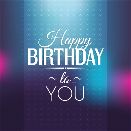 advertising text: Birthday card in bright colors.