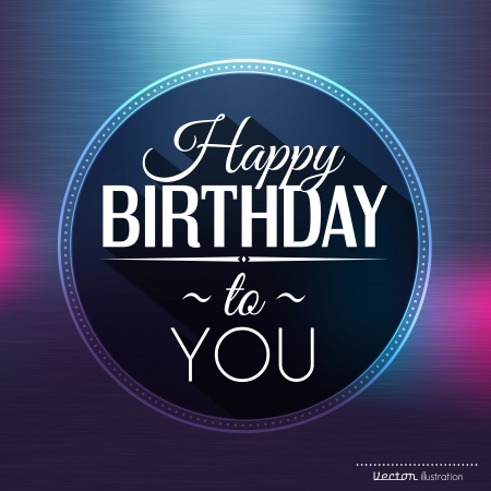 Birthday card in bright colors. Vector