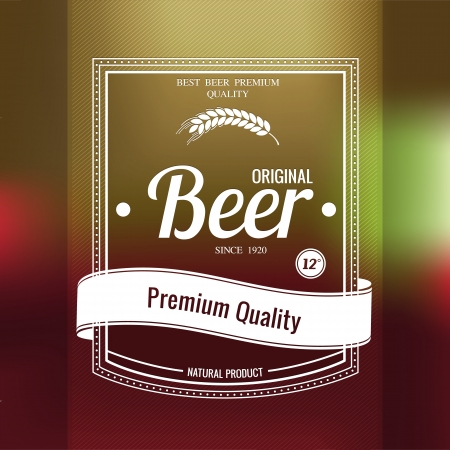 Premium beer background. Vector