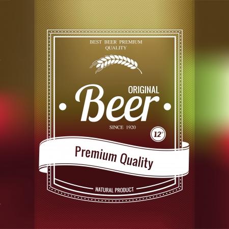 Premium beer background. Stock Vector - 24466698