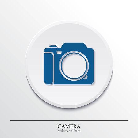 マルチ メディア ボタン、カメラ ベクトル アイコン