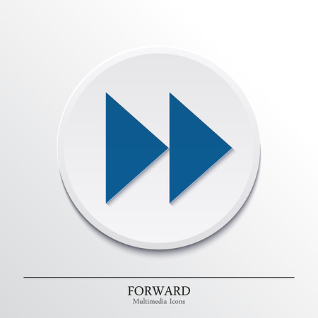 Multimedia icons on button, forward  Vector  Vector