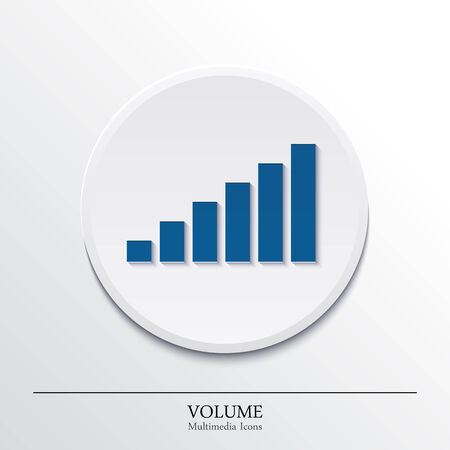 speed of sound: Multimedia icons on button, volume  Vector