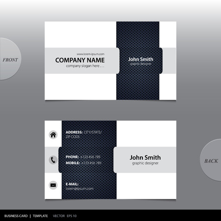 visiting card: Vector abstract business card.