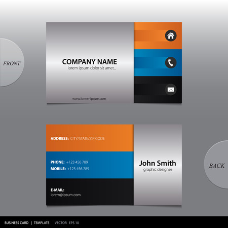 visiting card design: Vector abstract business card.