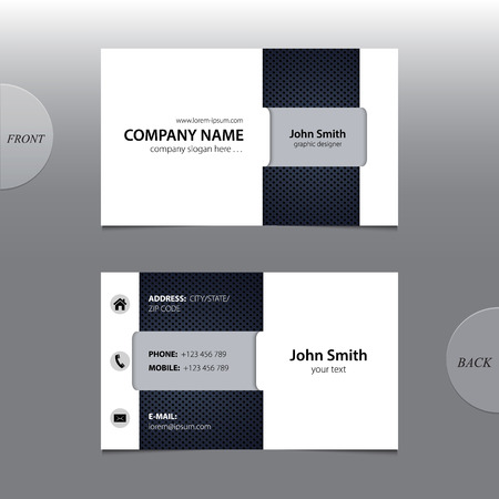 name calling: Vector abstract business card.