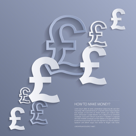 british pound: Vector pounds signs background.